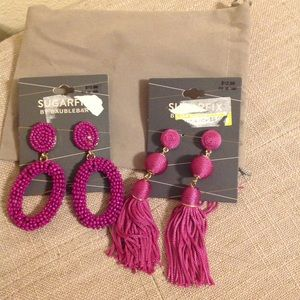 Bundle Lot 2 Pairs Statement Earrings NEW NWT